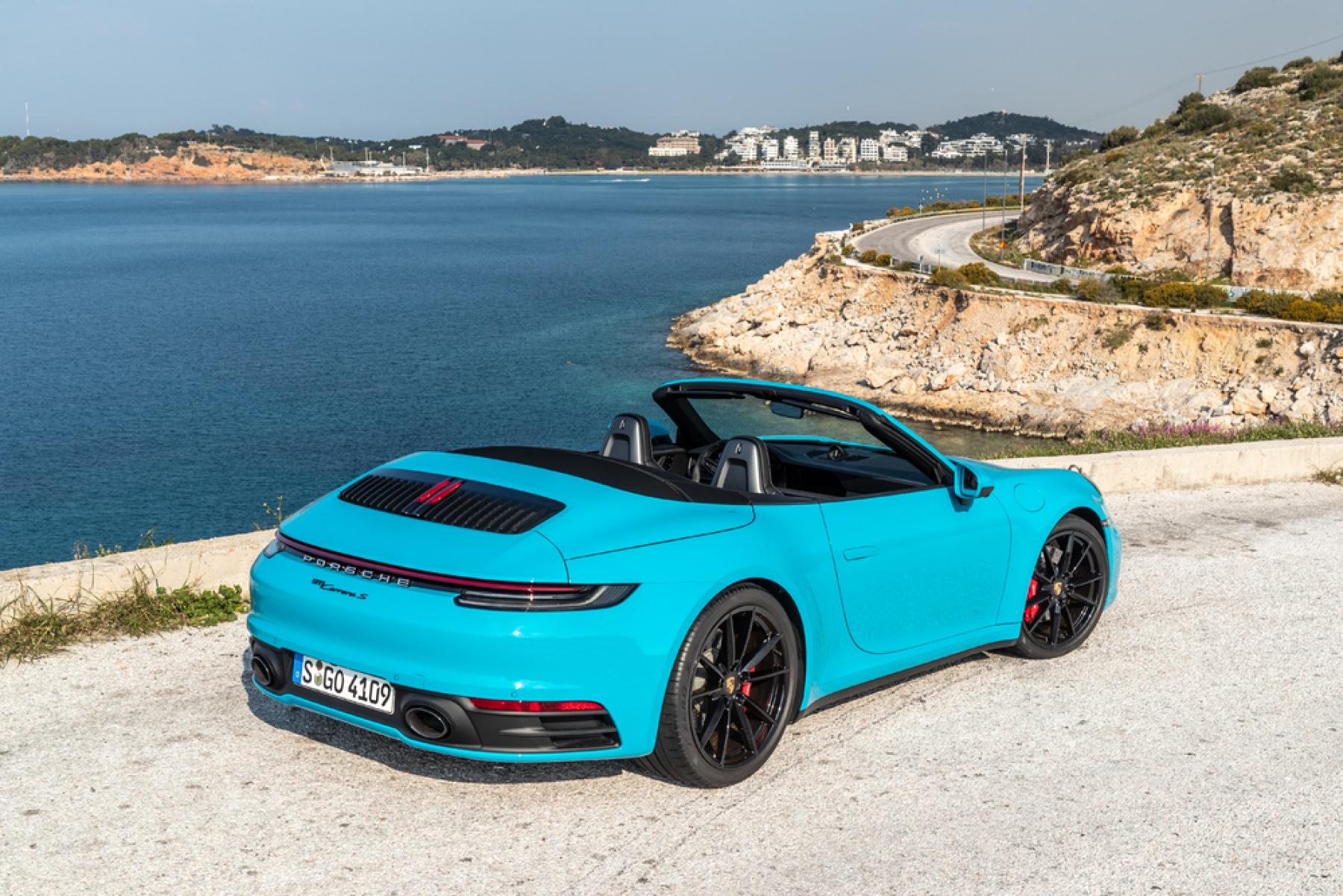 911 Carrera S Cabriolet Miami Blue (S,GO 4109) , The new