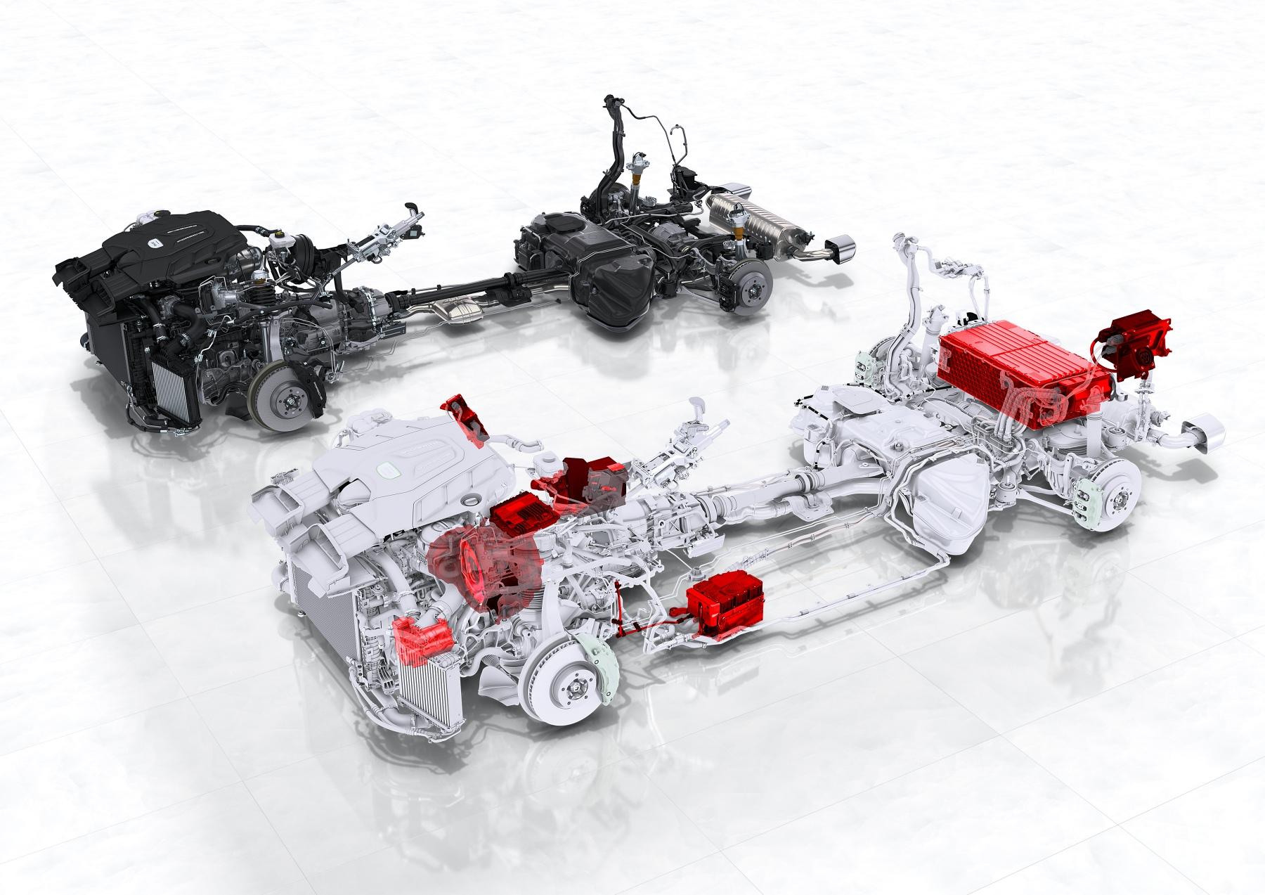 Technical Diagrams Porsche Cayenne E Hybrid Engine And Drivetrain Comparison