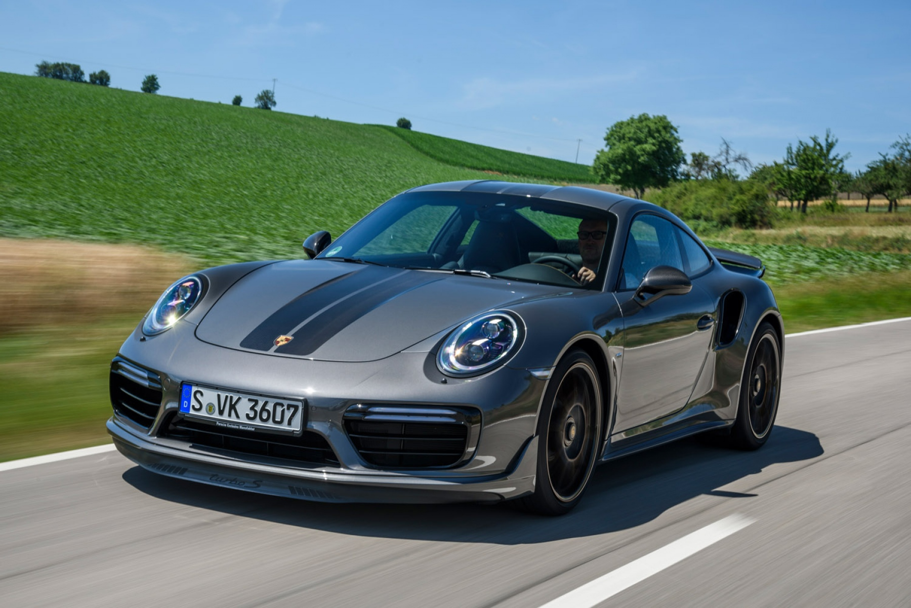 911 Turbo S Exclusive Series Agate Grey Metallic Workshop Manufatura Porsche Exclusive