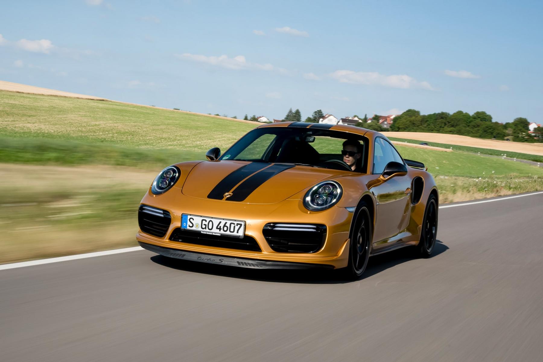 911 Turbo S Exclusive Series Golden Yellow Metallic