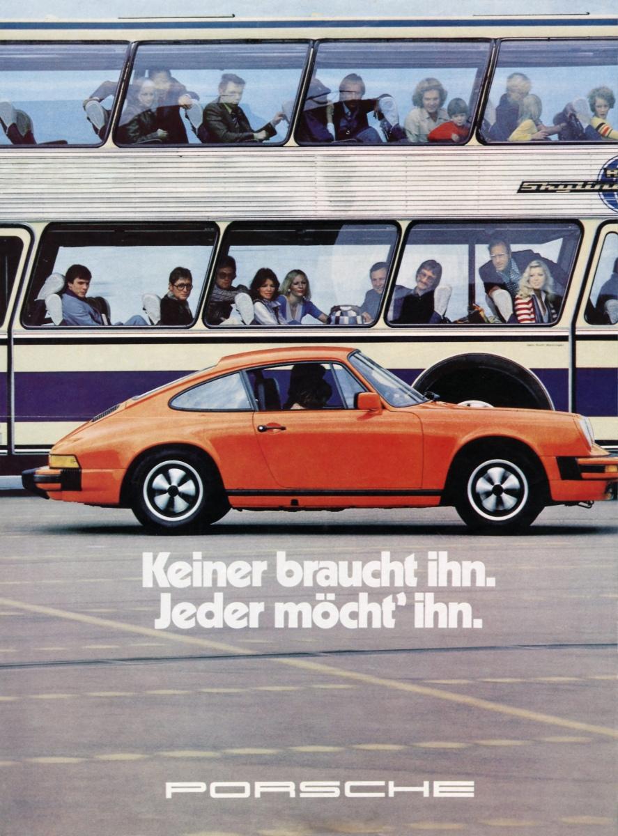 Original Porsche Carrera 911 Poster