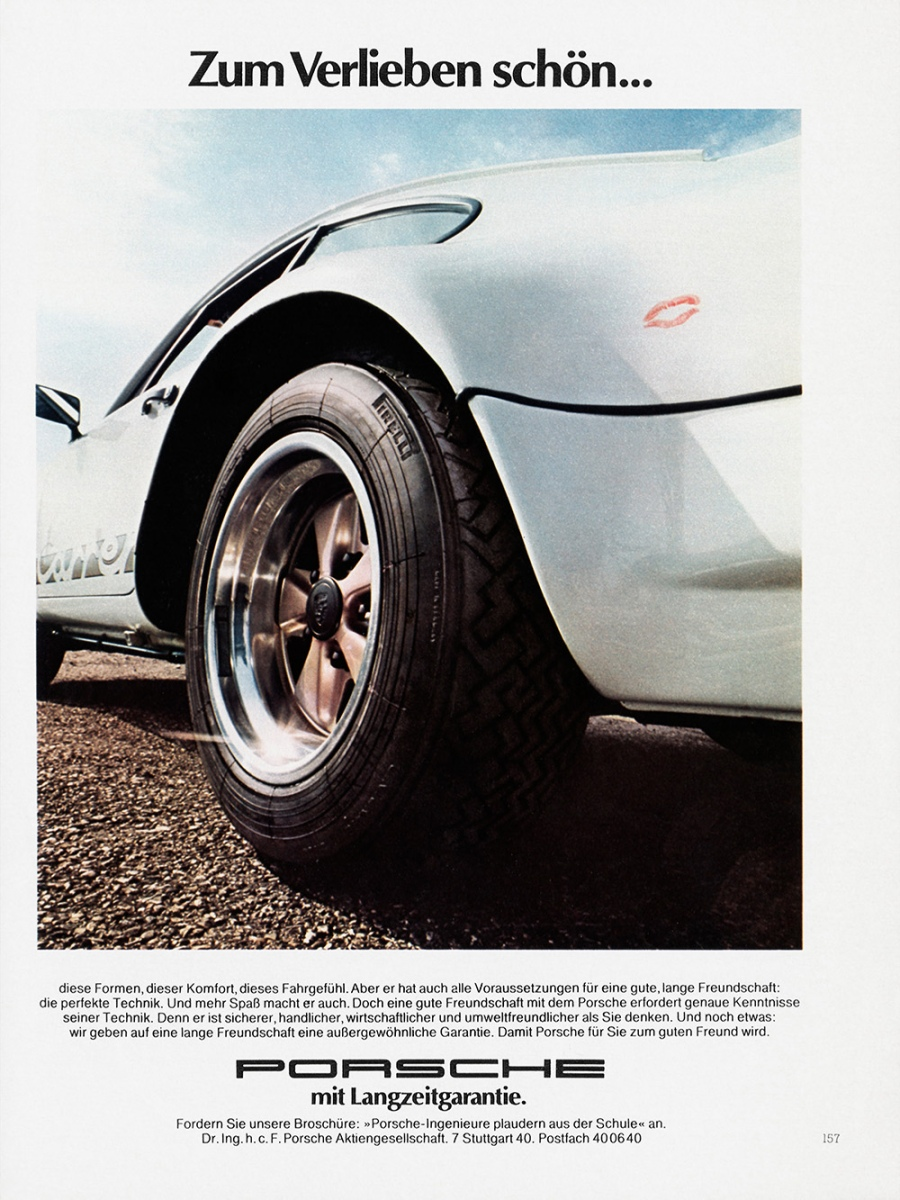 Historic advertising posters - Production anniversary of the Porsche 911