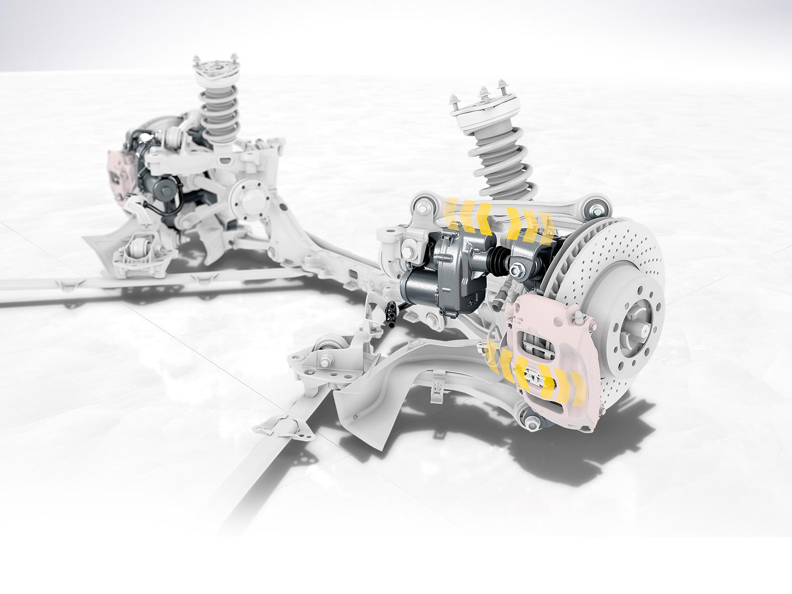 Hinterachslenkung Porsche Fahrwerkentwicklung